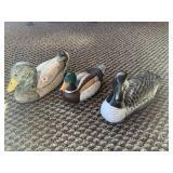 Wood duck figurines (4)