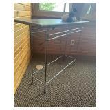 Metal Base sofa table, marble look top