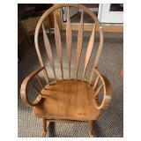 Bent wood arm rocking chair
