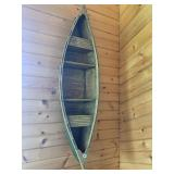 "Canoe wall shelf, 35"" long"