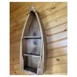 "Boat wall shelf, 23"" Long"