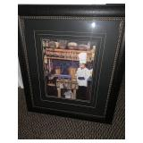 Cook & kitchen framed wall hanging