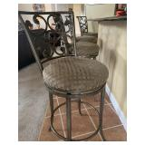 4 metal and upholstered bar stools