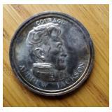 1991 Liberty Lobby Andrew Jackson Silver Coin