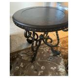 """Round side table, 24"""" tall"""