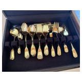 Golden Barclay flatware set