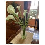 Lilies in vase Tall table arrangement