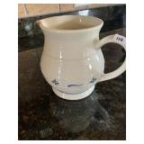 Longaberger blue & white pitcher