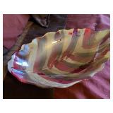 Glass dish, wall hanging plate rack