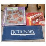 Games,Trivial Pursuit, Yahtzee, Pictionary