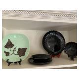 Santa Anita ware plate and shell plates