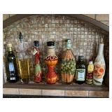 Decorative oil bottles (8)
