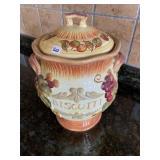 Fruit pattern Biscotti jar