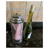Straw dispenser & lighted bottle