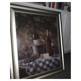 Framed print - wine theme