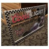 Coors Light mirrored sign