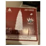 7 foot white Christmas tree