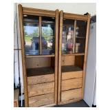 Wood storage cabinets (2)