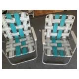 Woven lawn chairs (2)