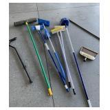 Push broom, mops, cane