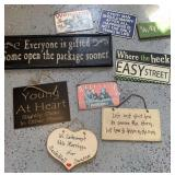 Metal & Wood signs with sayings