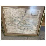 Framed map by Eman Bowman