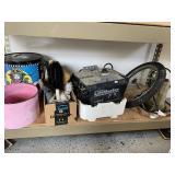 Sump Pump, watering can, car wash items