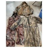 Camo overalls, coat, coveralls