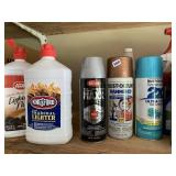 Spray paint, Lighter fluid, grease cleaner