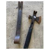 Hatchet and pry bar