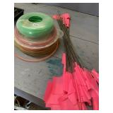 Trimmer line and marker flags