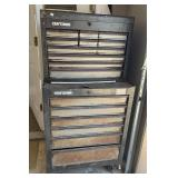 Craftsman rolling tool box 2 pieces