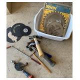 Saw blades, grinder wheels, hammers