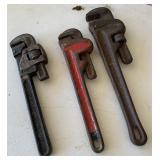 Pipe wrenches, Ridgid & Trimot