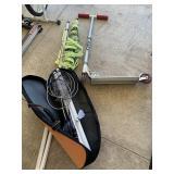 Badminton set and Razor scooter