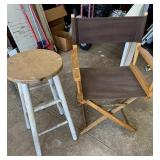 Wood stool and director