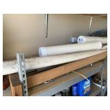 PVC pipe and wood pieces