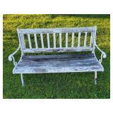 Park bench - wood seat, metal frame