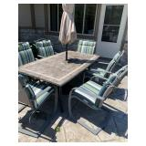 Patio table set with 6 chairs
