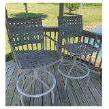 Tall outdoor stools (2)