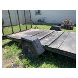 Trailer with ramp, 4 ton, with title