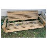 Wood porch swing