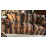 Flexsteel Couch - plaid upholstery