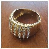 14K Gold dinner ring with 35 diamonds