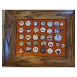 Political and Historical Pin Back Buttons