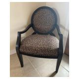 Animal print arm chair