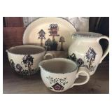 Casey Pottery pitcher, platter and batter bowls