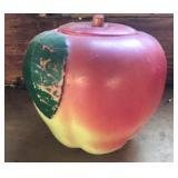 Hull blushing apple cookie jar