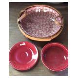 Henn rose sponge pasta bowl and Basket