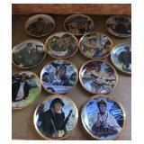 John Wayne Franklin Mint plates war military